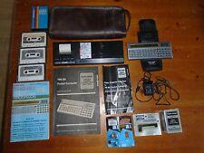 vintage TRS-80 Pocket PC Computer Bundle Radio Shack handheld WORKS!