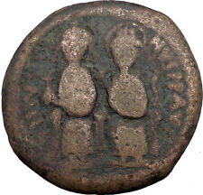Justin II & Queen Sophia 565AD HUGE Ancient Medieval Byzantine Coin  i32586