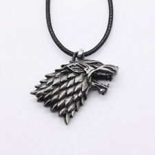HBO Game of Thrones House Stark Head 3D Metal Pendant Necklace