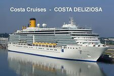 SOUVENIR FRIDGE MAGNET of CRUISE SHIP COSTA DELIZIOSA - COSTA CRUISES