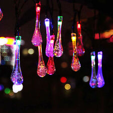 "20-LED 86"" Waterdrop String Light Wedding Garden Home Christmas Festivals Decor"
