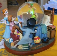 "EXCLUSIVE DISNEY STORE PETER PAN SNOW GLOBE "" IN THE BEDROOM """
