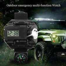 New Rechargeable Outdoor LED Flashlight Wrist Watch Light Tactical Waterproof BK