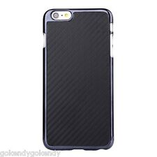 NEW Black Carbon Fiber Leather Coated Hard Cover Case for iPhone 6 iPhone 6S