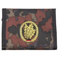 german army light infantry camo flecktarn  Men Nylon Bifold Velcro Wallet purse