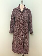Vintage Norman Harris 6 Purple Long Coat Excellent Tweed Wool Blend England *