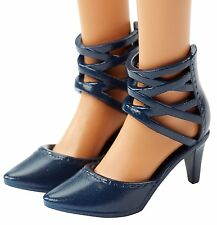 2016 Barbie Shoes Evolution Fashionistas CURVY & TALL Navy Ankle Wrap Sandals