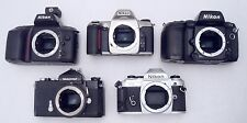 Lot of 5 Nikon Manual SLR Camera Bodies PARTS REPAIR 35mm Film Nikkormat