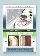 JERRY RICE 2004 SKYBOX E-X CLEARLY AUTHENTICS 8 COLOR DUAL PATCH /44