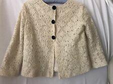 Roberto Cavalli class incredible lace ivory jacket size IT 42, US8 UK10