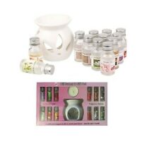 OIL BURNER & 12  PERFUME OIL AROMATHERAPY OILS DIFFUSER & CANDLE GIFT SET