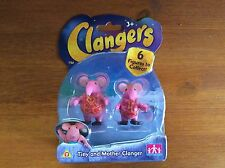 Clangers Tiny y madre Clanger Coleccionable Figuras Juguetes