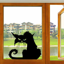 Halloween Terror Cat Shopwindow Wall Stickers Home Decor Room Mural Decals Art