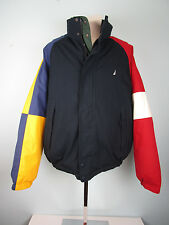 Vintage 90's Nautica Color Block Reversible Duck Down Puffy Jacket size XL