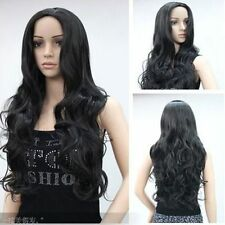 CHWJ464  charming black long curly health hair wig wigs for modern women