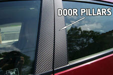 Fits Mitsubishi Lancer 02-07 Carbon Fiber B-Pillar Window Trim Covers Post Parts
