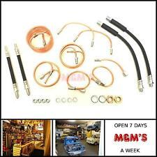 CLASSIC AUSTIN MINI - FULL BRAKE PIPE KIT WITH HOSES FOR DRUM TYPE BRAKES