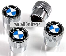 4x Fits BMW Series Tech Power Wheel Tyre Valve Dust Caps Air Covers Set SILVER