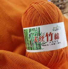 50g Bambú Algodón Hilo Tejer Tejidos De Lana Para Hacer Punto Croché Bricolaje