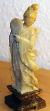 Chinesische Speckstein Figur Geisha Soapstone Carving chinese carved woman