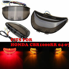 Smoke LED Tail Light Brake Turn Signals For Honda CBR 1000RR 04-07 600RR 03-06