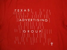 Texas Advertising Group Retro Logo Company Red T Shirt M