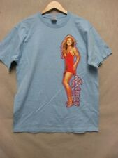 V5508 Fruit of the Loom Blue Britney Tour'04 New Women's T-shirt L