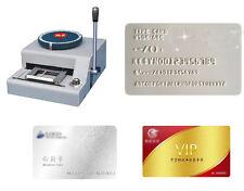 68 Letter Manual Stamping Machine PVC ID Credit VIP Card Embosser Code Printer