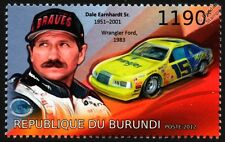 Dale Earnhardt & 1983 WRANGLER FORD T-BIRD NASCAR Race / Racing Car Stamp (2012)