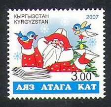 Kyrgyzstan 2007 Christmas/Santa Claus/Letters/Birds/Animation 1v (n37875)