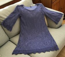 Ladies size 6 Blue Lace Dress by Divided at H&M