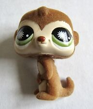 LPS Littlest Pet Shop #819 Limited Edition Meerkat Fuzzy Flocked Green eyes