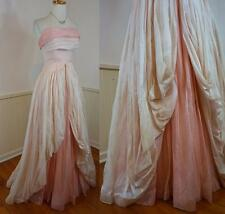 ROMANTIC Vintage 50's Pink Gauzy Organza Party Prom Wedding Gown Dress