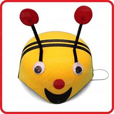CUTE KIDS CHILDRENS YELLOW BUMBLEBEE BEE HAT CAP-DRESS UP-COSTUME-PARTY-COSPLAY
