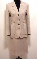 Vtg EMANUAL UNGARO Italian Textured Silk Wool Blend Skirt Suit 12 Fitted Blazer