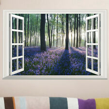 Blossoming Lavender Forest Removable Wall Sticker Vinyl Art Decal Room Decor W1