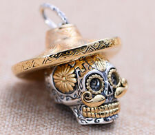 S23 skull HAT 925 Sterling Silver pendant charm jewelry DIY accessory