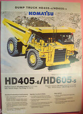 ✪ viejo folleto original/sales brochure Komatsu Dump Truck hd405-6/hd605-5