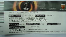 TICKET UEFA EL 2015/16 Valencia CF - Athletic Club Bilbao