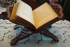 Vintage Sheesham Hand Carved India Folding Book, with original sticker