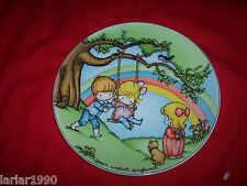 """JOAN WALSH ANGLUND 1981 """"MAKE EACH DAY A RAINBOW"""" LE COLLECTORS PLATE"""