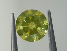 0.70 Ct Fancy Yellow Canary Diamond Loose Sparkling Direct Dealer Price 5.8 mm