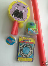 "Swimming Pool Noodle Float Aid Woggle Foam Bat Ball Set 30"" Swim Ring Surf Ball"