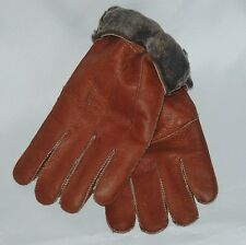 NEW! Unisex Warm Brown Winter Sheepskin Shearling Gloves Unisex Real Leather L