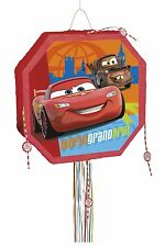 Unique Party Favors Disney Cars Boys Birthday Pop Out Pinata, Pull String-NWT