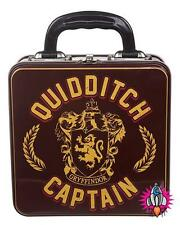 OFFICIAL HARRY POTTER QUIDDITCH CAPTAIN METAL DOMED LUNCH TIN TOTE BOX NEW