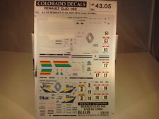 DECALS 1/43 RENAULT CLIO 16s #53/#17/#3 ou #19 TOUR DE CORSE 1991 -COLORADO 4305