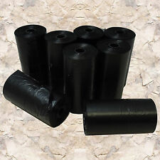 BIODEGRADABLE PET DOG WASTE POOP BAGS BLACK 176 NO CORE UNSCENTED REFILL ROLLS