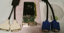 Nvidia Quadro NVS 315 1GB Dual View Low Profile SFF Win10 PCI-E Video Card + Cbl