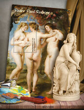 Guinea-Bissau 2016 MNH Peter Paul Rubens 1v S/S 3 Graces Nude Paintings Stamps